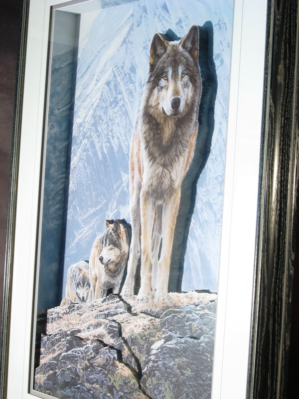 Wolf Pack Crossing the Ridge