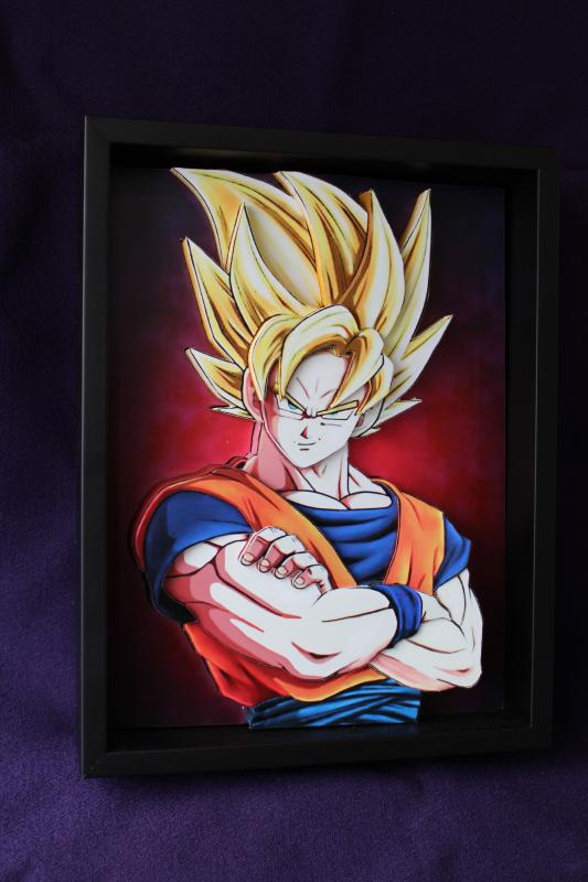Super Sayian 2 Goku in 3D