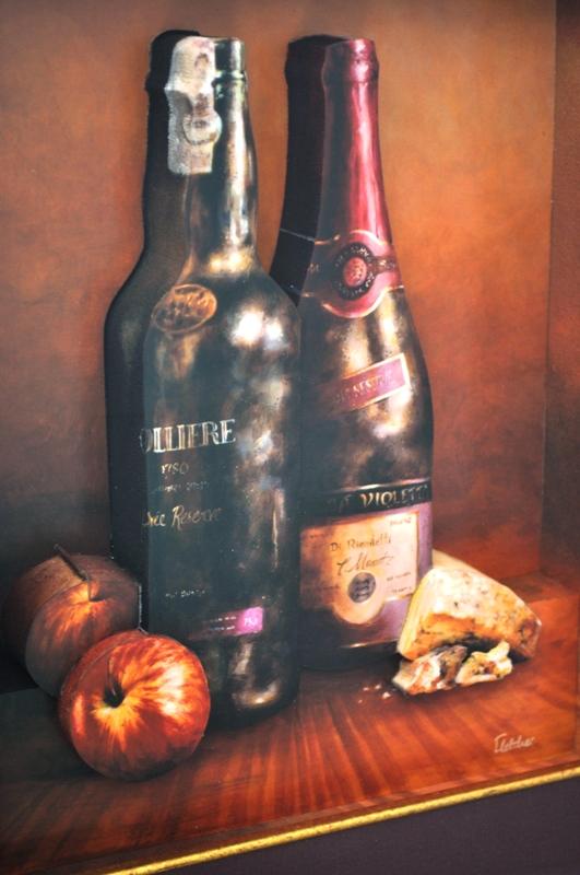 3D Wine Bottles Still Life