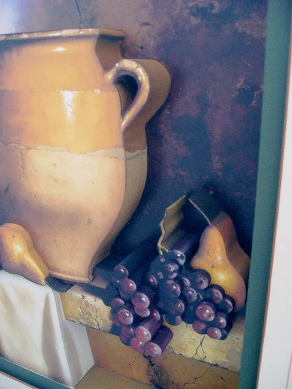 3D Tuscan Jars and Pears Still Life