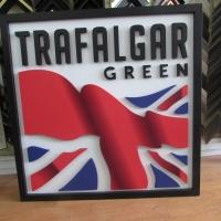 Trafalgar Green 3D Logo