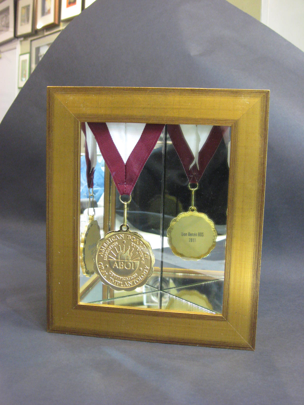 Medallian framed with mirrors