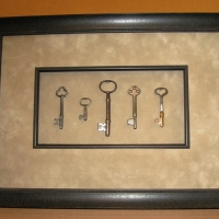Antique Keys mat-fillet-shadow-box