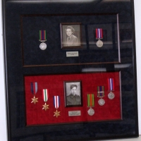ww-II medals combination shadow box
