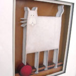 3D Artwork White Cat