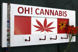 Cannabis THC Marihuana Canada Flag Keyholder Key hooks Keys Rack Organizer