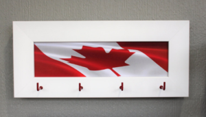 Custom Maple Leaf Canada Flag Wooden Organizer Wood Keyholder Keyhooks Keys Racks Key Holder Hooks