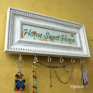 Inspirational Wooden Custom Quote Keys Rack Holder Hooks