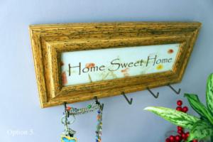 Inspirational Wooden Custom Quote Keys Rack Holder Hooks