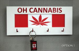 Marihuana Cannabis THC Canada Keyholder Key and Jewellery Organizer Wooden Hooks