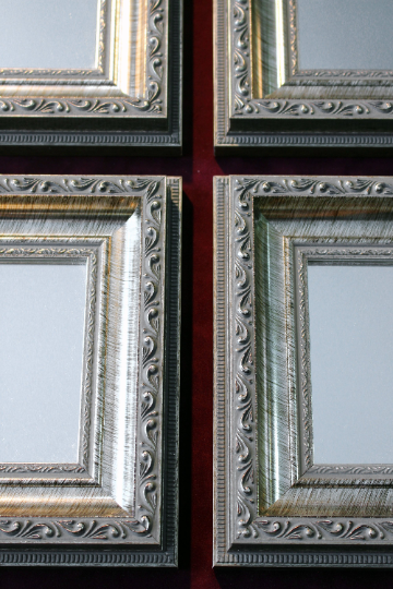 Ornate Antique Silver Framed Mirrors3