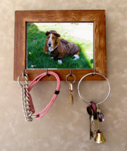 Rustic Wood Keyhook Keyholder Photo Picture Art Wooden Frame Hooks Jewellery Rings Keys Jewelry Decoration Organizer