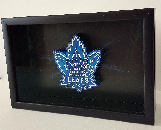 Toronto Maple Leafs Canada NHL Hockey 3D Pop Up Art Shadow Box