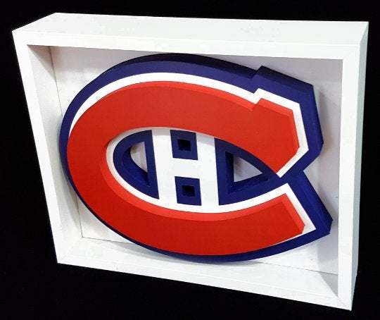 Montreal Canadias Canada NHL Hockey 3D Pop Up Art Shadow Box