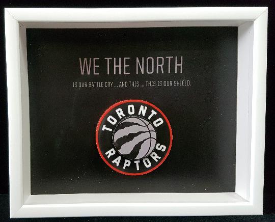 Toronto Raptors NBA 3D Pop Up Art Shadow Box
