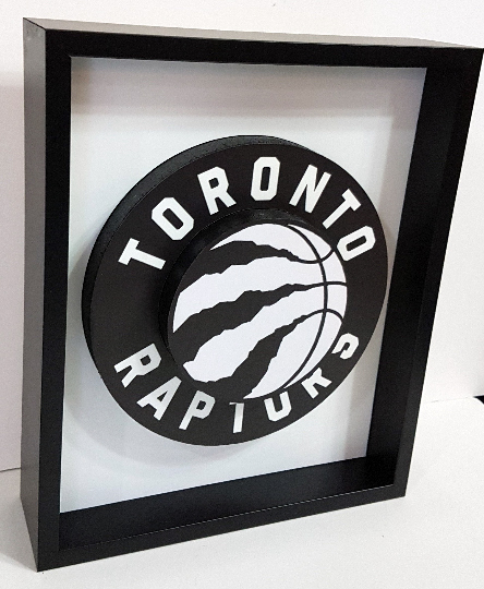 Toronto Raptors Canada NBA Basketball 3D Pop Up Art Shadow Box