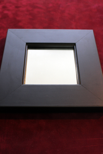 Black Square Diamond Small Framed Wooden Mirrors