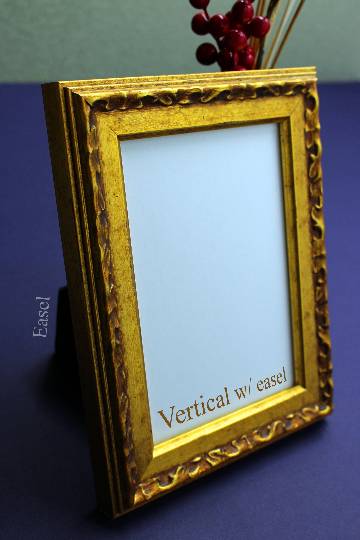 Metallic Beaconed Ornated Single Wooden Art and Picture Frame