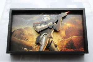 Star Wars Tattoine Storm Tropper 3D Pop Up Art Wooden Framed Shadow Box
